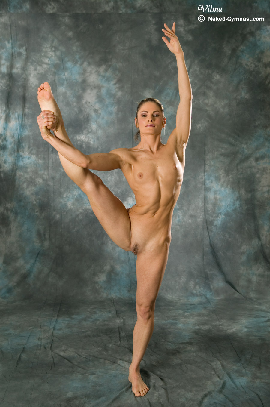 Naked flexible gymnasts
