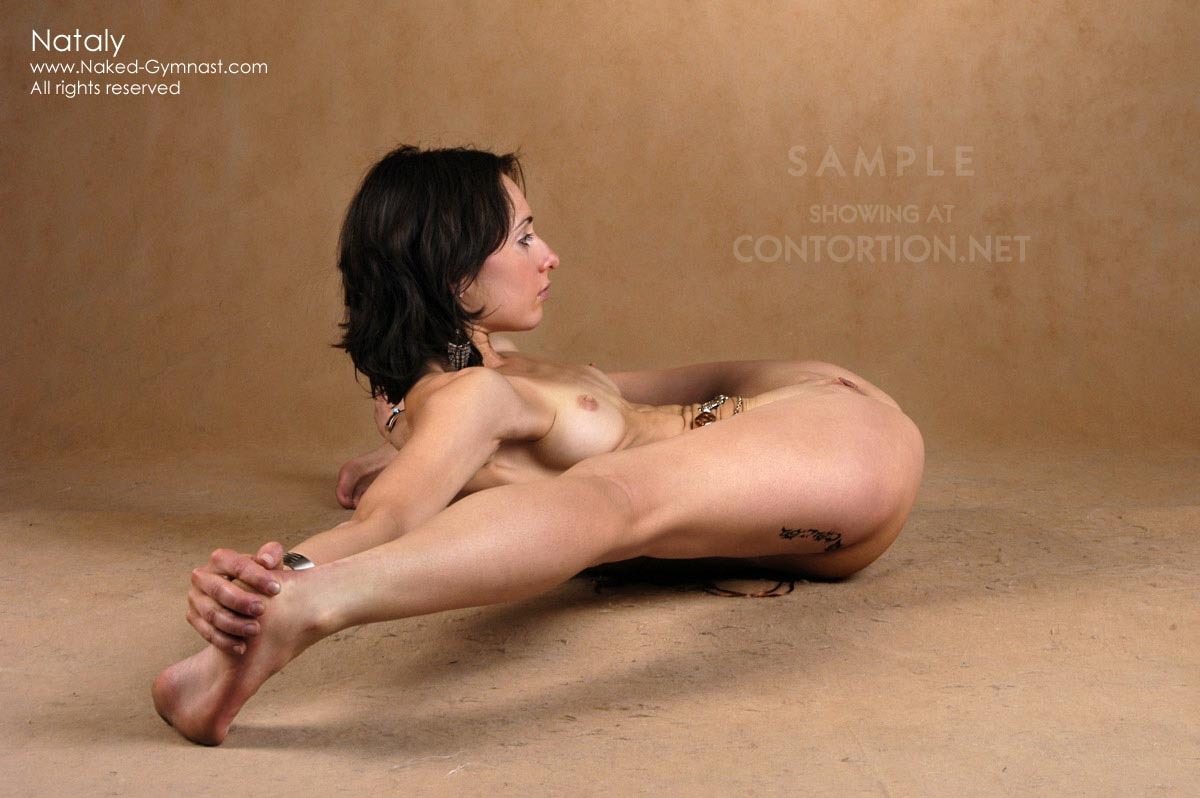 Flexible naked gymnast